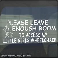 Disabled Girl Wheelchair Car Parking Sticker-Disability Mobility Vinyl Sign