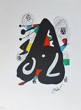 "Joan Miro ""La Melodie Acide"" V  signed Hand numbered LITHOGRAPH 1980"