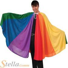 Adult Rainbow Cape Long Cloak Joesph Technicolour Dream Coat Fancy Dress Pride