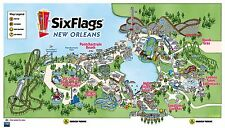 Six Flags New Orleans Map REPRODUCTION POSTER 24 X 36 Inches Looks beautiful