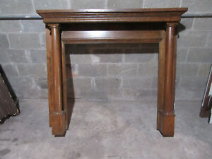~ ANTIQUE OAK FIREPLACE MANTEL ~ 60 X 50 WITH 42 OPENING ~ SALVAGE