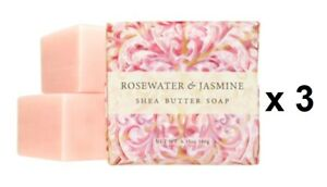 Greenwich Bay Trading 6.35oz Soap - Rosewater & Jasmine, Set of 3 (R54015)