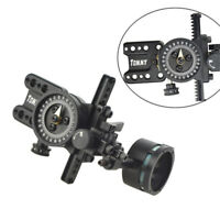 Compoundbogen Sight Bogenschießen Visier 1 Pin Jagd Micro Adjustable Len Visier