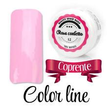 12 Rosa confetto  GEL UV COLOR LINE RICOSTRUZIONE UNGHIE glass effect nail art