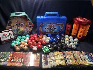 Bakugan Lot of 66 Figures, 56 Metal Cards, 53 Regular Cards and 3 Cases