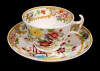Beautiful Early Hand Painted Cup And Saucer