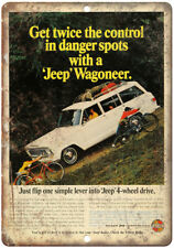 "Jeep Wagoneer Kaiser 4Wheel Drive Ad 10"" x 7"" Reproduction Metal Sign A81"