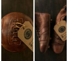 Retro Reborn Vintage Antique Style Leather Football Boots + Lace Style Football