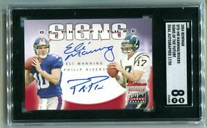 2004 Bowman Signs of the Future Eli Manning Philip Rivers RC 17/50 SGC 8 NM-MT