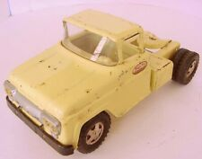 1959 TONKA TOYS PRESSED STEEL PALE YELLOW TRACTOR TRUCK for #40 CAR AUTO CARRIER