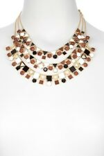 Kate Spade Ipanema Tile Necklace NWT Eco-Beautiful! Faceted Wood Beads & Gems