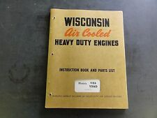 Wisconsin Models VH4D VH4D Instruction Book and Parts List