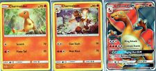 Pokemon TCG Charizard GX SM60 Charmander 18/147 Charmeleon 19/147 NM/M