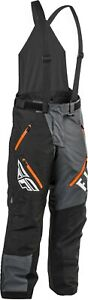 Fly Racing SNX Pro Mens Snow Bibs Black/Gray/Orange