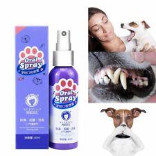 Pet Teeth Breath Cleaning Freshener Dog Cat Denta Spray Care Cleaner 60ML Oral