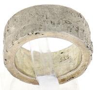 Sonderanfertigung Unikat Handgefertigter 925er Silberring #06 Schmiedearbeit