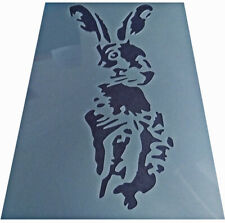 Shabby Chic plastic craft Stencil sheet artistic Hare rabbit body A4 297x210mm
