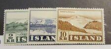 Iceland Scott #302 303 304 ** MNH Mountains, very fine + 102 card, superfleas