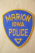 Patches: MARION IOWA POLICE PATCH (NEW* apx.9.5x7.5 cm)