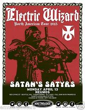 """Electric Wizard """"North American Tour 2016""""Concert Poster For Seattle Or Portland"""