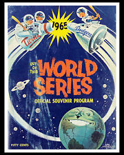 1965 World Series - (Dodgers & Twind) Poster of Program Cover - 8x10 Color Photo