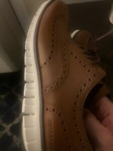 New Cole Haan Zerogrand Wingtip Oxford Shoes C14493 Brown Mens Size 8