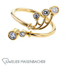 Gold herreros Engelhardt-nuez diamante-Ring, Anillo 53