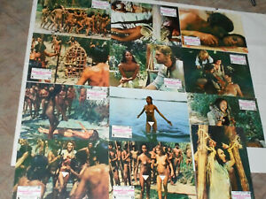 Laura Gemser - Nackt unter Kannibalen -  12 Spanische Kino Aushang Fotos