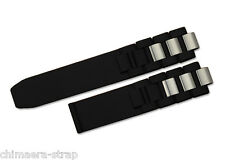 20mm Silicone Rubber Watch Band Stainless steel Strap for CHRONOSCAPH 21 Black