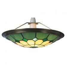 Green Tiffany Bistro Style Uplighter Ceiling Light Pendant Shade