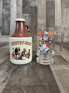 Disney Parks Country Bear Jamboree Moonshine Jug Sipper Cup & Big Al Glass mug