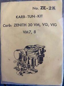 CU-ZE-2K-Rebuild Kit for Zenith 30VIG 30VM Nash metropolitan