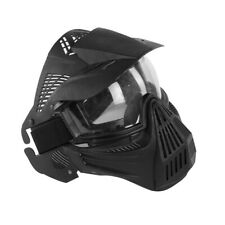 Full Face Protective Safety w/ Goggles Mask Tactical CS Game Paintball Airsoft