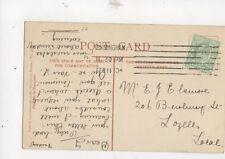 Mr E Elsmore Burbury Street Lozells Birmingham 1910 486a