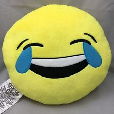 """Emoji Emoticons Pillow Laugh To Tears Plush Round Soft Toy Yellow  Bedroom 13"""""""