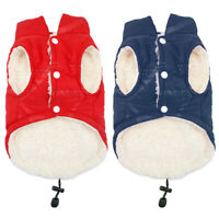 Fleece Dog Coats with Harness Hole for Small Dogs Winter Warm Pet Clothes Jacket