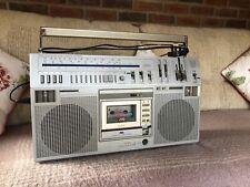 More details for jvc vintage boombox ghetto blaster rc m80lb stereo radio cassette