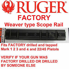 RUGER Mark 1 2 3 4 & 22/45 Scope Mount Rail Weaver Base picatinny MK II III IV
