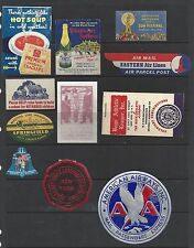 Vintage Luggage Labels. Collection of 11. (BI#VLLA).