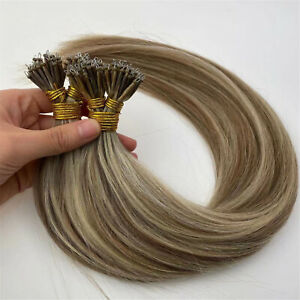Nano Ring Tip Remy Human Hair Extensions Halo Hair Extensions Double Drawn 1G
