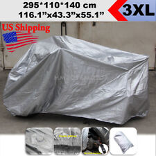 L Anti UV Motorcycle Black/&Silver Cover For BMW K R S 75 80 100 1100 1200 1300