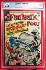 FANTASTIC FOUR #28 (Marvel 1964) PGX 8.5 VF+ Very Fine+ X-men Cross Over +CGC!!!