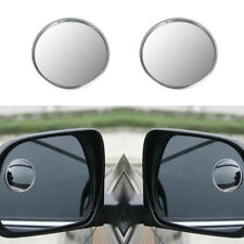 2 X 360 DRIVER SIDE WIDE ANGLE ROUND CONVEX CAR AUTO REAR VIEW MIRROR BLIND SPOT