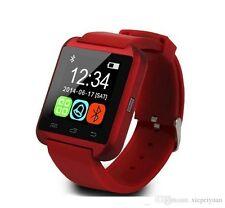 Smartwatch U8 Bluetooth Orologio per iOS iPhone 4 4s 5 5s 5c 6 6 Plus rosso