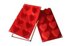 Silikomart 8 Cup Heart Cake Mini-Cake Pan with Safe Ring Valentines Wedding