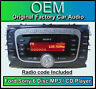 Ford Focus car stereo 6 Disc CD player, Ford Sony CD MP3 changer with radio code