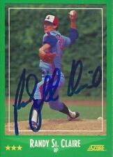 Randy St. Claire Montreal Expos 1988 Score Signed Card