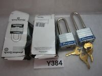 2 QTY Master Lock 3KALHBLU Keyed Alike Blue Laminated Steel Safety Padlock 40mm