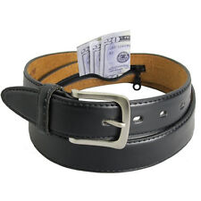 LEATHER  MONEY BELT ZIPPER NEW BLACK SAFE SIZE MEDIUM SYLISH CASUAL BUCKLE