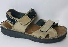 Rieker Womens 8 M EU 39 Ankle Strap Sport Sandals Beige Tan Anti-stress Leather
